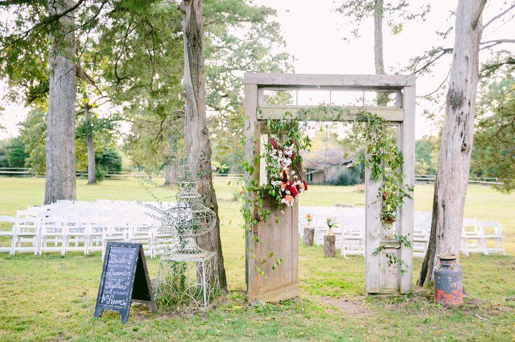 Elegant Old Door Outdoor Ceremony Entrance #2556916
