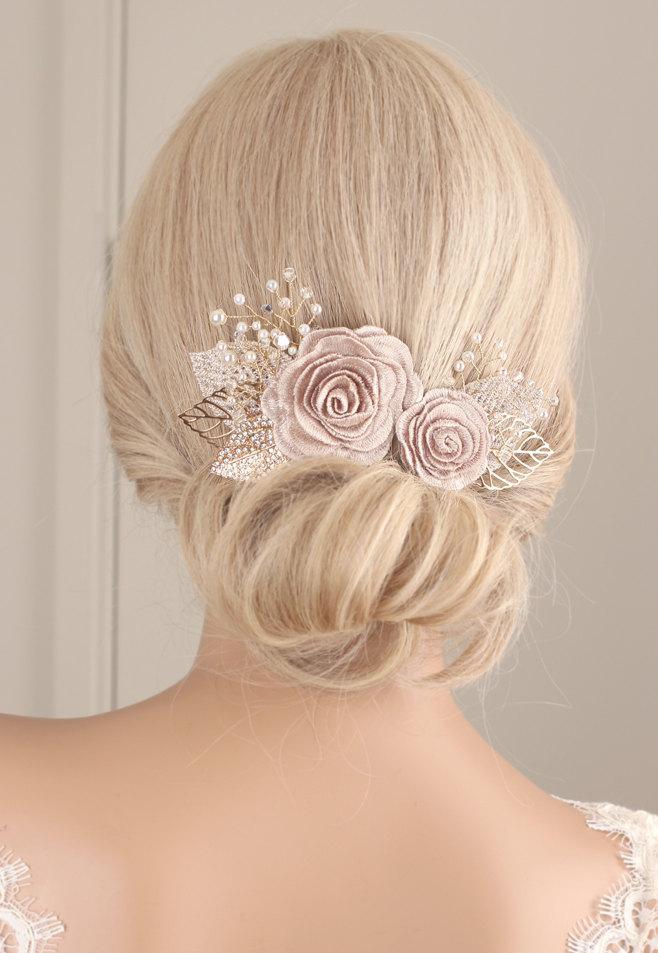 Flower Hair Piece, Flower Hair Clip, Wedding Hair