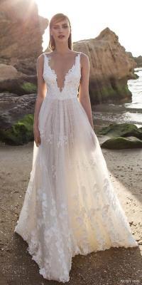 32 Sexy Deep Plunging V Neck Wedding Dresses #2557277 ...
