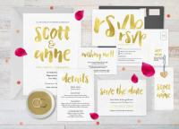 Gold Wedding Invitation Set, Wedding Invitation Gold ...