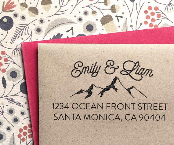 address stamp custom address