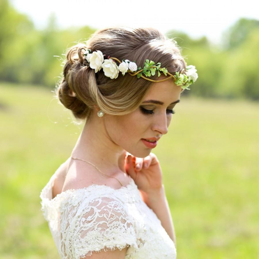 flower crown wedding headpiece