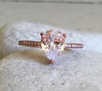 Rose Gold Cubic Zirconia Ring- Promise Ring- Simple ...