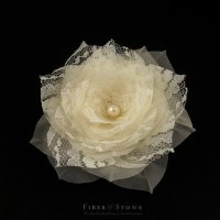 Silk And Lace Bridal Hairpiece, Flower Wedding Hairpiece