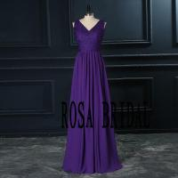 Long Bridesmaid Dress V Neck, Lace Bridesmaid Dress ...