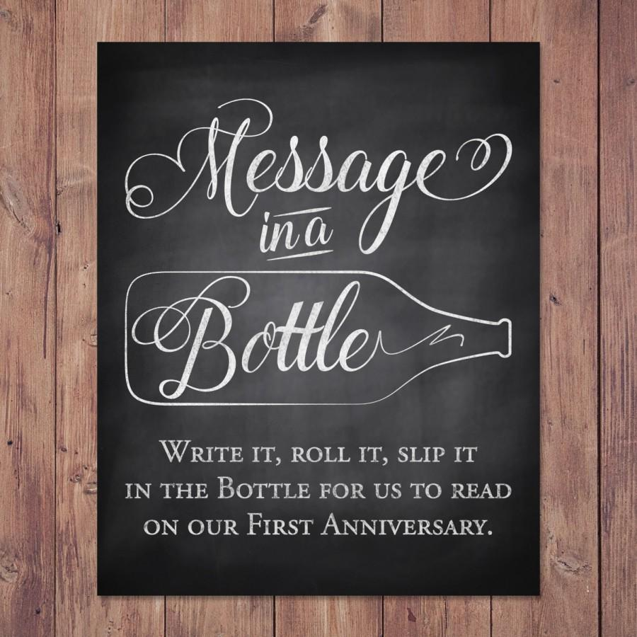Rustic Wedding Guest Book Sign  Message In A Bottle