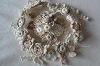 wedding hair brooch wreath hair brooch bracelet wedding ...