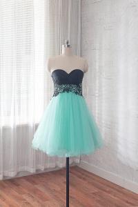 Short Prom Dress, Mint Formal Dress, Cocktail Dress For