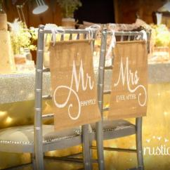 Mr And Mrs Chair Signs Folding Top Covers Wedding Burlap Elegant By Rustic Daisy Designs