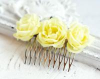 71_Wedding Hair Comb, Yellow Hair Accessories, Hair ...