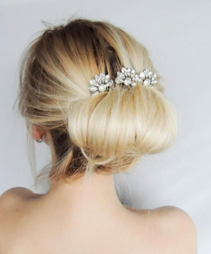 swarovski crystal hair comb/ hair pins/ bridal hair