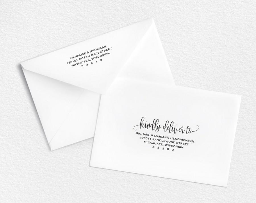 Envelope Template, Printable Envelope, Wedding Envelope