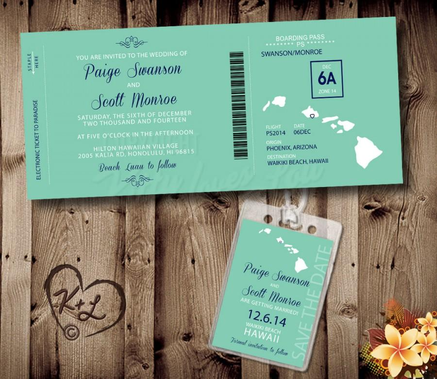 PRINTABLE Boarding Pass Wedding Set Digital PDF