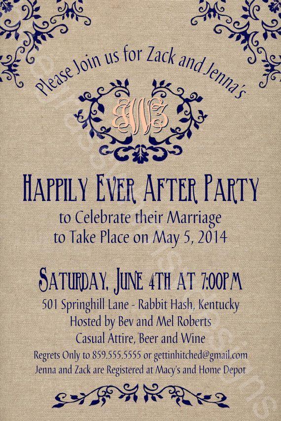 Rustic Burlap Linen Post Wedding Or Elopement