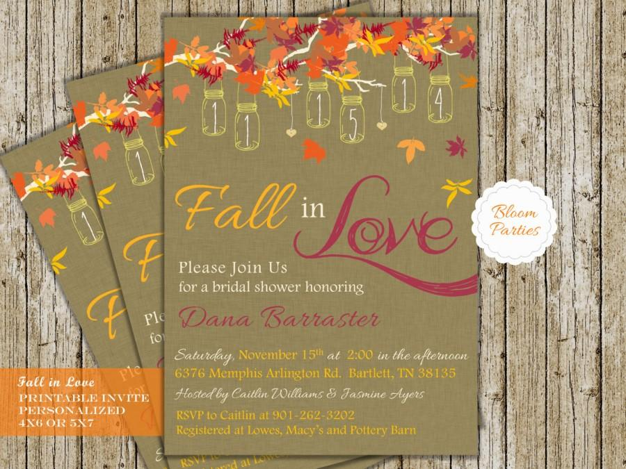 Our editors independently research, test, and recommend the best produc. Fall In Love Bridal Shower Invite Digital Printable Fall Bridal Shower Invitation Falling In Love Wedding Shower With Hanging Mason Jars 2570393 Weddbook