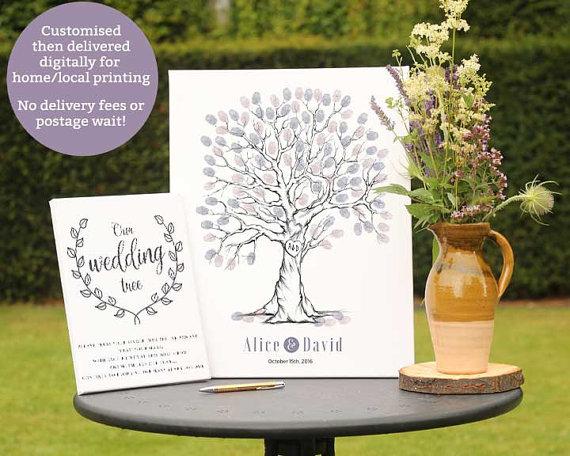 wedding tree guest book