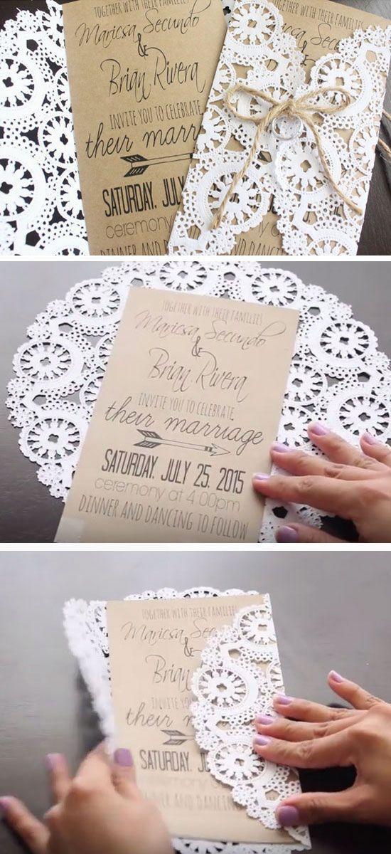 Invitation 50 Unique Diy Wedding Ideas 2576530