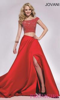 Two Piece Long Jovani Prom Dress - Discount Evening ...