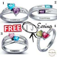 Engraved Promise Ring For Her, Couple Ring, His And Her ...