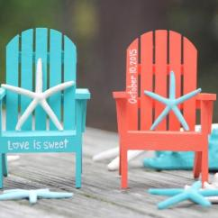Paint For Adirondack Chairs Portable Dental Chair India Any Color Custom Personalized Hand Painted Cake Topper Beach Destination Wedding Turquoise Coral