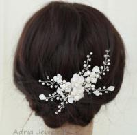 Flowers Wedding Hair Combs, Bridal Headpieces, Pearl ...