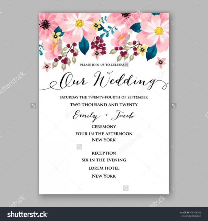 Poinsettia Wedding Invitation Sample