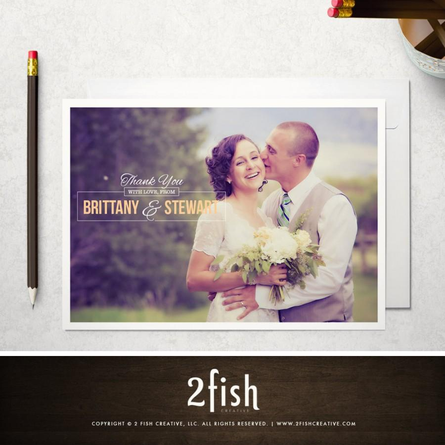 Photo Wedding Thank You Card / Photo Thank You Note (Go The Distance) -  Printed Or Printable, 4X5.5 Or 5X7 - Rustic, Classic, Traditional