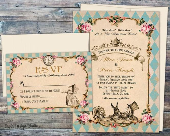 Fairytale Wedding Invitations Alice And