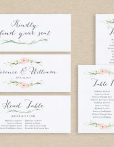Wedding seating chart template plan cards table number editable card edit in word or pages also rh weddbook