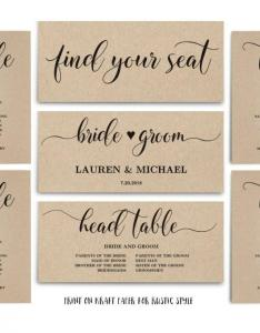 Rustic wedding seating chart template header signs and table printable instant download sc also rh weddbook