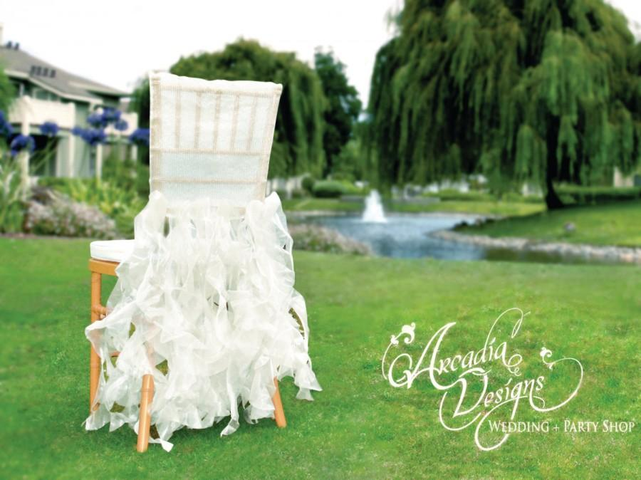 wedding decorations chairs receptions side dining upholstered white bridal chair cover ruffle willow decoration ready to ship for event reception shower engagement decor
