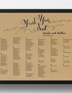 Printable seating chart poster template also einladung weddbook rh dedbook