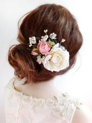 bridal hair clip floral