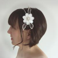 White Bridal Headband - Pearl Flower Hair Accessories ...