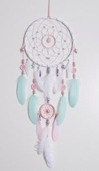 Large Pink Mint Dream Catcher Bohemian Dreamcatcher Boho ...