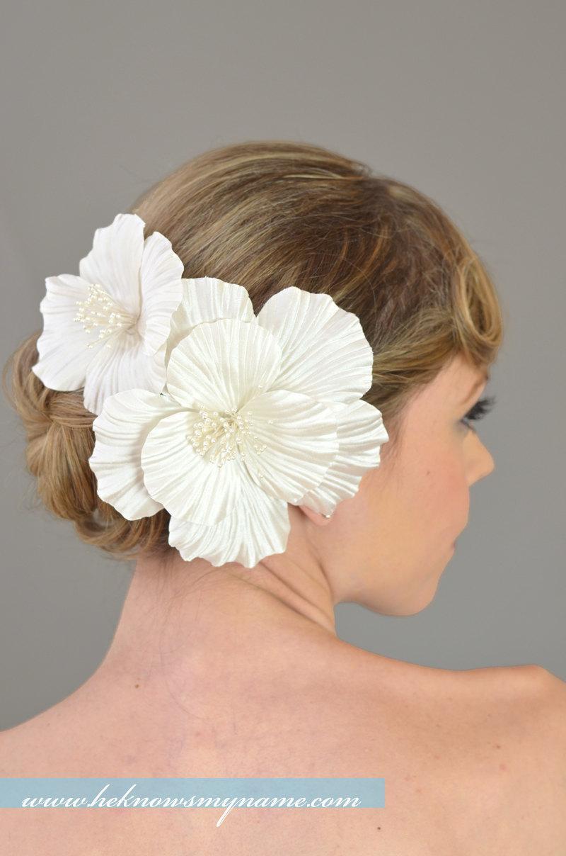 Bridal Hair Flowers, Wedding Hair Accessories, Silk Hair