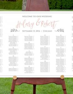 Seating chart template instant download editable text diy printable wedding pdf digital also rh weddbook