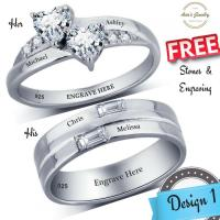 His And Her Promise Rings, Couples Promise Ring Set ...