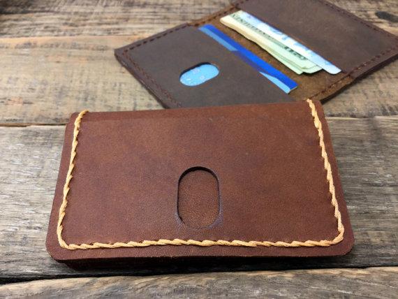 minimalist leather wallet anniversary