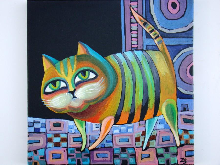 paintings on canvas cat