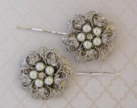 Wedding Hair Pins, Bridal Hair Accessories, Silver ...