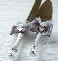 Silver Wedding Cake Server Set & Knife Cake Cutting Set