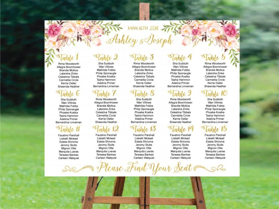 Wedding Seating Chart Wedding Seating Chart Printable