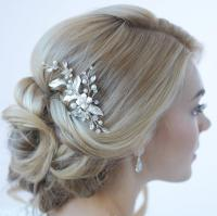 Floral Bridal Hair Clip, Bridal Hair Accessory, Pearl ...