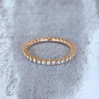 Eternity Ring, 18k Rose Gold, Diamond Eternity Band ...