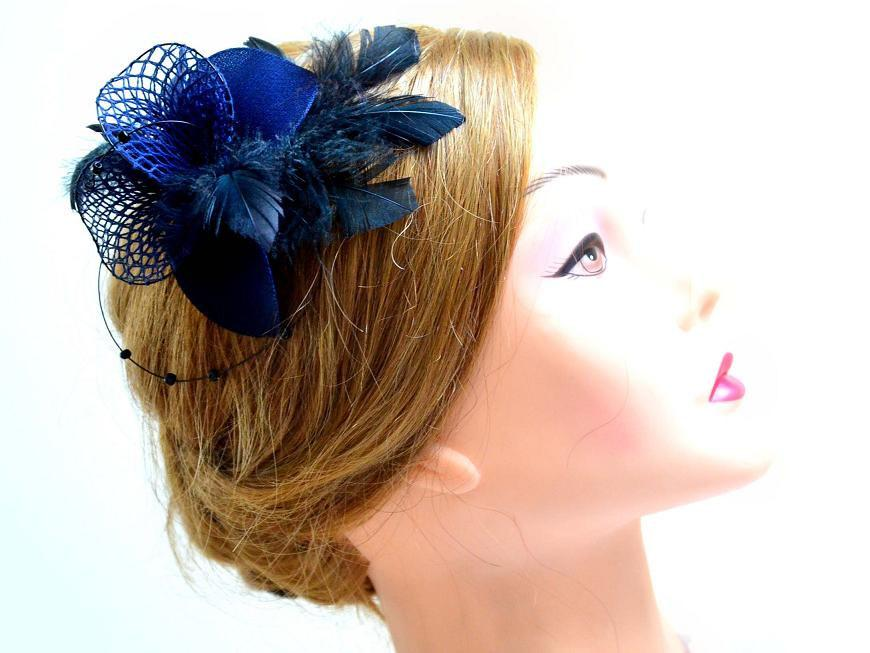 Navy Blue Wedding Comb Sapphire Blue Hair Accessories Bridal