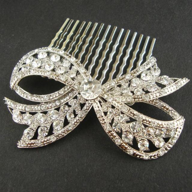 bridal hair comb, vintage retro wedding hair comb, wedding