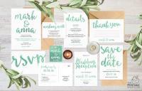 Wedding Invitation Set, Wedding Invitation Suite, Wedding ...