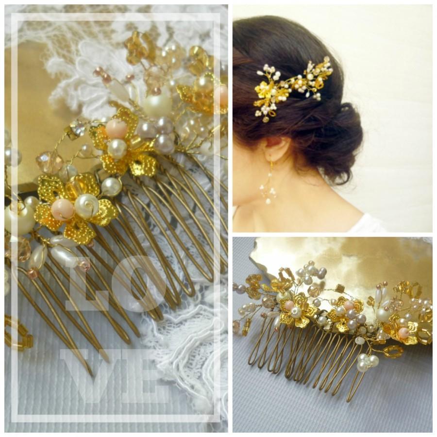 Bridal Hair Brooch, Wedding Hair Comb, Bridal Hair