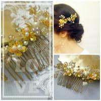 Bridal Hair Brooch, Wedding Hair Comb, Bridal Hair